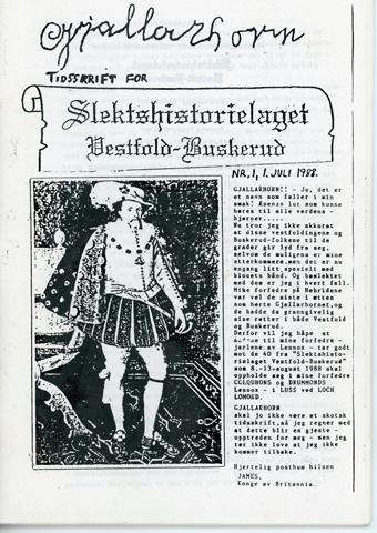Gjallarhorn nr 1 utgitt 1988