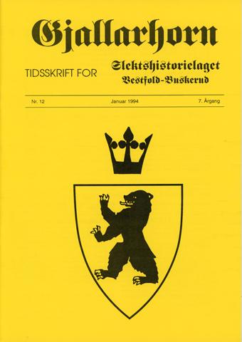 Gjallarhorn nr 12 utgitt 1994