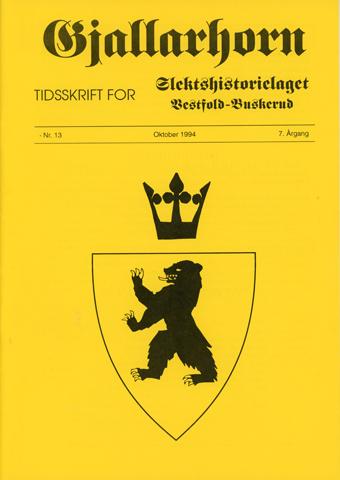 Gjallarhorn nr 13 utgitt 1994