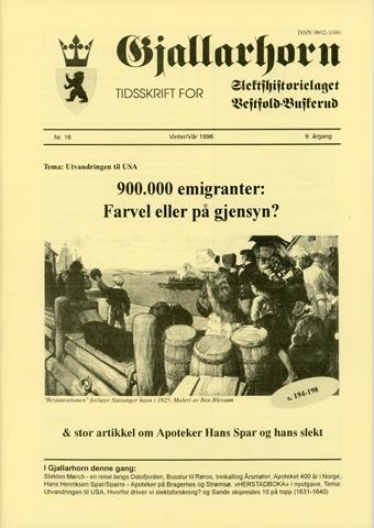 Gjallarhorn nr 16 utgitt 1996