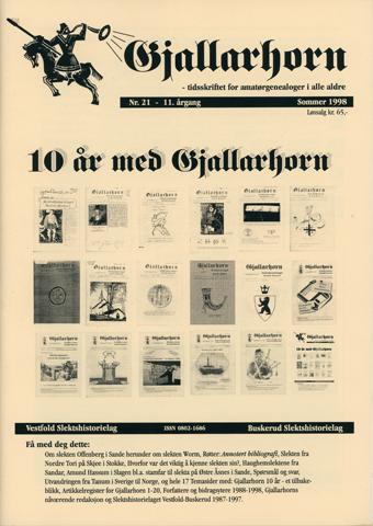 Gjallarhorn nr 21 utgitt 1998