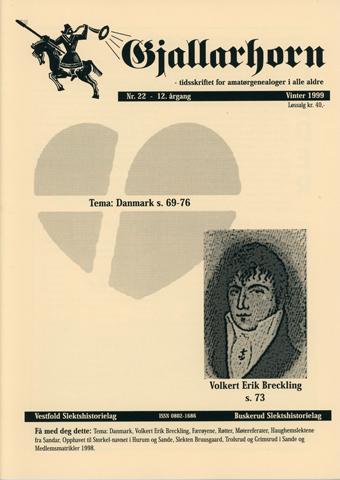 Gjallarhorn 22 utgitt 1999