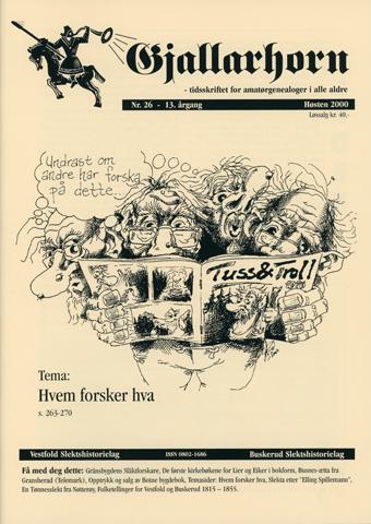 Gjallarhorn nr 26 utgitt 2001
