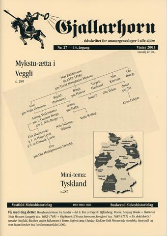 Gjallarhorn nr 27 utgitt 2001