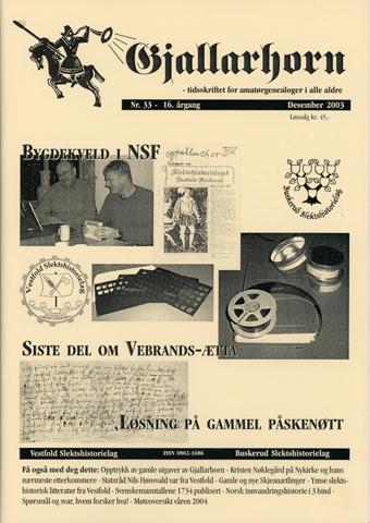 Gjallarhorn nr 33 utgitt 2003