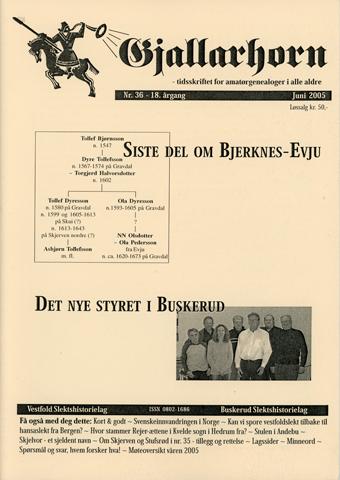 Gjallarhorn nr 36 utgitt 2005