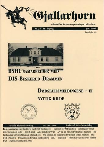 Gjallarhorn nr 38 utgitt 2006