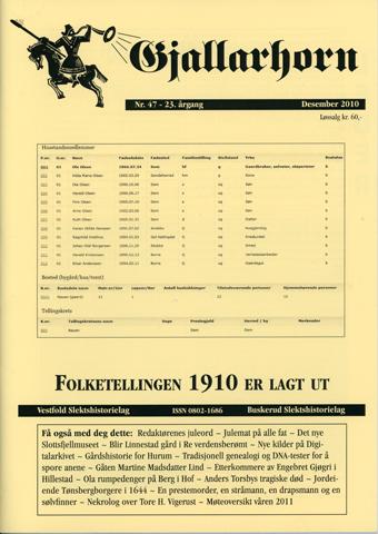 Gjallarhorn nr 47 utgitt 2010