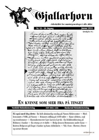 Gjallarhorn nr 53 utgitt 2013