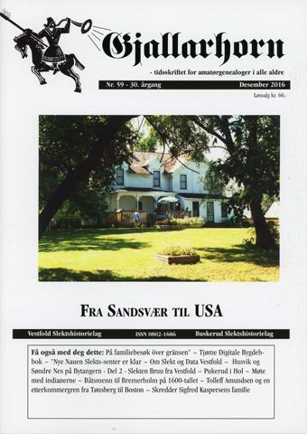 Gjallarhorn nr 59 utgitt 2016