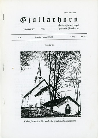 Gjallarhorn nr 8 utgitt 1991-1992